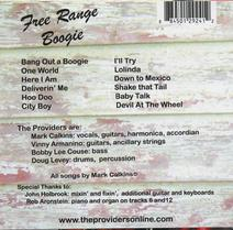 "The Providers ""Free-Range Boogie"" CD"